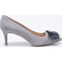Gino Rossi - Czółenka Rumi. Szare buty ślubne damskie Gino Rossi, z materiału, na obcasie. W wyprzedaży za 229,90 zł.