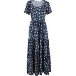 Sukienka z krótkim rękawem bonprix ciemnoniebieski w kwiaty. Niebieskie sukienki mini bonprix, w kwiaty, z krótkim rękawem. Za 129,99 zł.