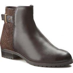 Botki CAPRICE - 9-25351-27 Dk Brown Comb 328. Brązowe buty zimowe damskie Caprice, ze skóry, na obcasie. W wyprzedaży za 239,00 zł.