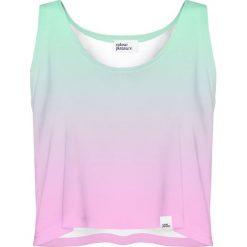 Colour Pleasure Koszulka damska CP-035 62 różowo-zielona r. M-L. Czerwone bluzki damskie marki Colour pleasure, l. Za 64,14 zł.