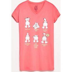 Koszula nocna z nadrukiem - Pomarańczo. Różowe koszule nocne i halki Reserved, z nadrukiem. Za 59,99 zł.