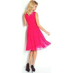 Sukienki: Szyfonowa sukienka – RÓŻOWA