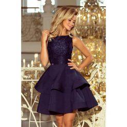 JENNIFER podwójnie rozkloszowana sukienka z koronkową górą - GRANATOWA. Różowe sukienki koronkowe marki numoco, l, z długim rękawem, maxi, oversize. Za 209,99 zł.