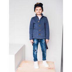 Bluzy chłopięce rozpinane: BLUZA DZIECIĘCA ROZPINANA BEZ KAPTURA KB002 - JEANSOWA