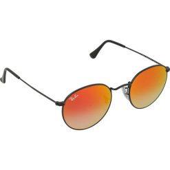 """Okulary przeciwsłoneczne męskie: Okulary męskie """"Round"""" w kolorze czarno-czerwonym"""