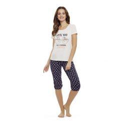 Piżama Danni 35832-03X Różowo-granatowa. Szare piżamy damskie marki Henderson Ladies, l, z elastanu. Za 93,90 zł.