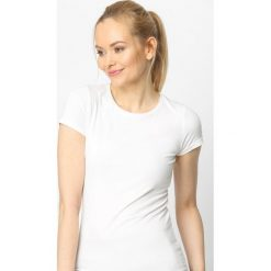 T-shirty damskie: Beżowy T-shirt Back To Basic