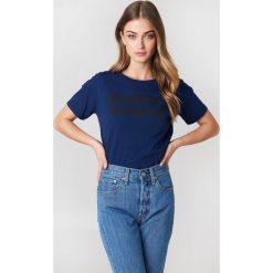 Levi's Koszulka Perfect - Blue. Brązowe t-shirty damskie marki Levi's®, z obniżonym stanem. Za 80,95 zł.