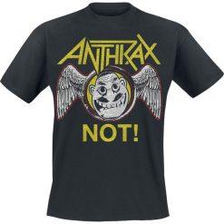 T-shirty męskie z nadrukiem: Anthrax Not Wings T-Shirt czarny