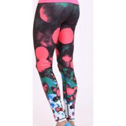Spodnie dresowe damskie: Spokey Leginsy damskie długie Balls fitness grafitowo-różowe r. L (839468)