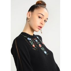 Sukienki hiszpanki: Topshop EMBROIDERED TRIM SMOCK Sukienka letnia black