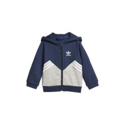 Bluzy dresowe Dziecko adidas  Zestaw polarowy z bluzą z kapturem. Niebieskie bluzy chłopięce rozpinane Adidas, z dresówki, z kapturem. Za 188,30 zł.