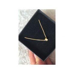 Naszyjniki damskie: Srebrny pozłacany naszyjnik koło