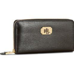 Duży Portfel Damski LAUREN RALPH LAUREN - Lrl Zip Wallet N79 L7885 AR032 XW0E1 Black. Czarne portfele damskie Lauren Ralph Lauren, ze skóry. W wyprzedaży za 369,00 zł.