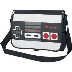 Nintendo Controller Torba kurierska czarny/szary. Czarne torby na ramię męskie Nintendo, na ramię, duże. Za 99,90 zł.