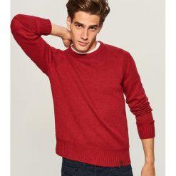 Sweter - Czerwony. Czerwone swetry klasyczne męskie marki Andrew James, l, z kaszmiru, z dekoltem w serek. Za 99,99 zł.