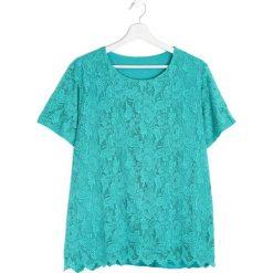 Bluzki asymetryczne: Zielona Bluzka Careless