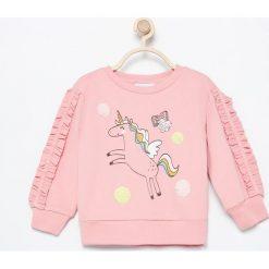 Bluza z jednorożcem - Różowy. Czerwone bluzy niemowlęce marki Reserved, z kapturem. Za 49,99 zł.