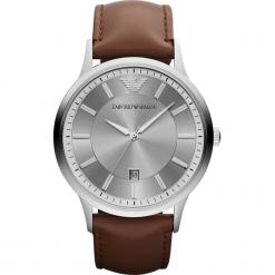 Zegarek EMPORIO ARMANI - Renato AR2463  Brown/Silver/Steel. Szare zegarki męskie marki Emporio Armani, l, z nadrukiem, z bawełny, z okrągłym kołnierzem. Za 809,00 zł.