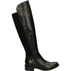 Buty zimowe damskie: Kozaki ocieplane - 1278 PEL NERO