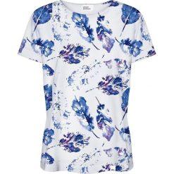 Colour Pleasure Koszulka damska CP-030 154 biało-niebieska r. XXXL/XXXXL. Bluzki asymetryczne Colour pleasure. Za 70,35 zł.