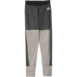Adidas Spodnie Tri-Blend Tight grafitowe r. L (AY0185). Szare spodnie sportowe damskie marki Adidas, l. Za 114,02 zł.