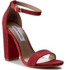 Sandały damskie: Sandały STEVE MADDEN – Carrson Sandal 91000008-0W0-10003-03001 Red