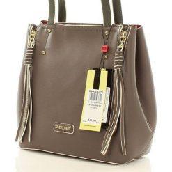Gustowna torebka kuferek szara AALIYAH. Szare kuferki damskie Monnari, ze skóry ekologicznej, zdobione, z frędzlami. Za 159,00 zł.