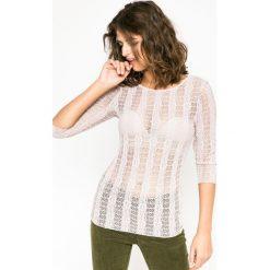Medicine - Bluzka Future Past. Szare bluzki asymetryczne MEDICINE, l, z elastanu, casualowe, z okrągłym kołnierzem. W wyprzedaży za 29,90 zł.