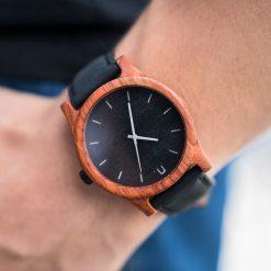 Drewniany zegarek męski classic 43 mm n001. Różowe zegarki męskie marki Pakamera. Za 374,00 zł.