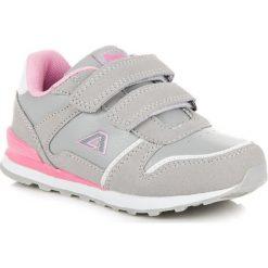 Dziewczęce buciki na rzep CHARLIE. Szare buty sportowe dziewczęce American CLUB. Za 79,00 zł.