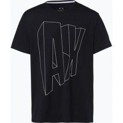 Armani Exchange - T-shirt męski, niebieski. Czarne t-shirty męskie marki Armani Exchange, l, z materiału, z kapturem. Za 149,95 zł.