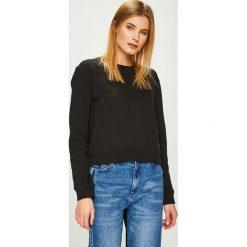 Calvin Klein Jeans - Bluza. Czarne bluzy rozpinane damskie Calvin Klein Jeans, l, z bawełny, bez kaptura. Za 359,90 zł.