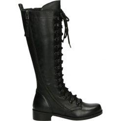 Kozaki - ZOYA1802 BLAC. Czarne buty zimowe damskie marki Venezia, ze skóry. Za 299,00 zł.