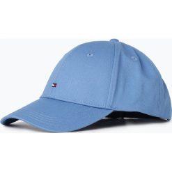 Tommy Hilfiger - Męska czapka z daszkiem, niebieski. Niebieskie czapki z daszkiem męskie TOMMY HILFIGER, z bawełny, sportowe. Za 129,95 zł.