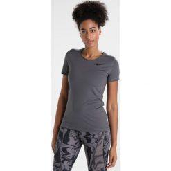 Nike Performance ALL OVER Tshirt basic dark grey/black. Szare topy sportowe damskie Nike Performance, xs, z elastanu. Za 129,00 zł.