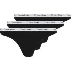 Majtki damskie: Calvin Klein Underwear CAROUSEL  Stringi black