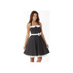 Sukienka rozkloszowana PIN UP ED01-3. Czarne sukienki na komunię marki Ella dora, uniwersalny, retro, z gorsetem, gorsetowe. Za 229,00 zł.