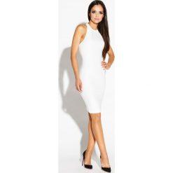 Ecru Mini Sukienka Odsłaniająca Ramiona i Plecy. Niebieskie sukienki balowe marki Reserved, z odkrytymi ramionami. Za 149,90 zł.