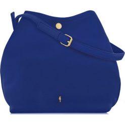 Torebka damska. Niebieskie torebki klasyczne damskie Ochnik, w paski, ze skóry ekologicznej. Za 99,90 zł.