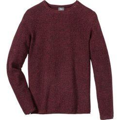 Sweter melanżowy Regular Fit bonprix bordowo-czarny melanż. Fioletowe swetry klasyczne męskie marki bonprix, l, melanż. Za 79,99 zł.
