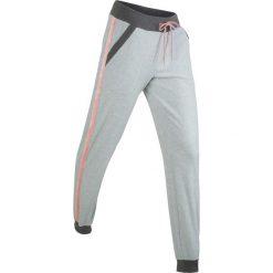 Spodnie dresowe damskie: Spodnie dresowe z dzianiny welurowej nikki, długie bonprix jasnoszary melanż