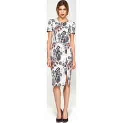 Sukienki: Sukienka dopasowana krótki rękaw s97