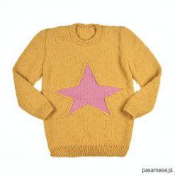 Sweter-Tunika Gwiazda Merynos Dziecięcy. Czerwone swetry chłopięce marki Pakamera, z wełny. Za 233,00 zł.