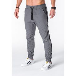 SPODNIE MĘSKIE JOGGERY P670 - GRAFITOWE. Szare joggery męskie Ombre Clothing. Za 75,00 zł.