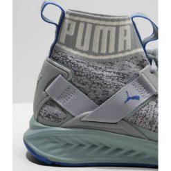 Puma IGNITE EVOKNIT Obuwie do biegania treningowe quarry/asphalt/lapis blue. Niebieskie buty do biegania damskie marki Puma, z materiału. W wyprzedaży za 384,30 zł.