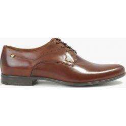 Półbuty brązowe Salvatore. Brązowe buty wizytowe męskie Badura. Za 239,99 zł.