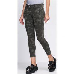 Rurki damskie: Zielone-Moro Spodnie Spinning