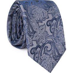 Jedwabny krawat KWGR000274. Szare krawaty męskie Giacomo Conti, z jedwabiu. Za 129,00 zł.