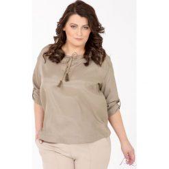 Bluzki asymetryczne: Bluzka na lato z troczkami Plus